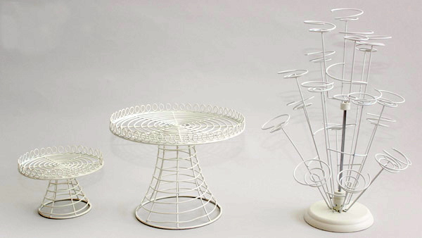 Wire Cake Stand Large Polkadot Party Hire