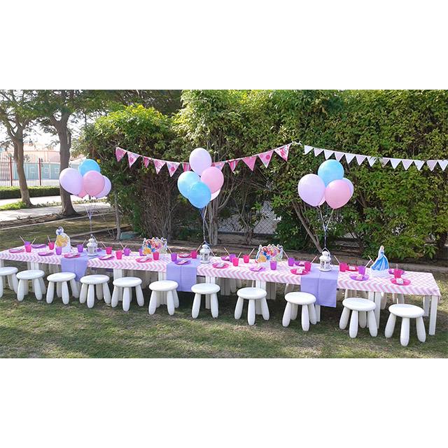 kids-stool-table-setting-princess - Polkadot Party Hire