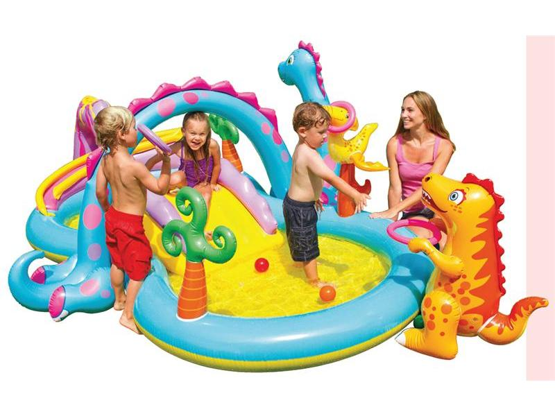 Dinoland play centre inflatable polkadot party hire for Piscine a balle gifi