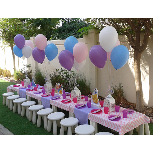 Princess\' Themed Table Setting - Polkadot Party Hire