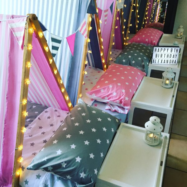 Luxury Sleepover Package Pretty In Pink Polkadot Party
